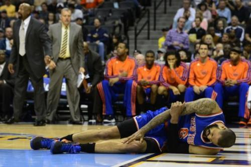Tyson Chandler has started all 62 games for the Knicks this season (Aaron Ontiveroz/Denver Post via Getty Images)