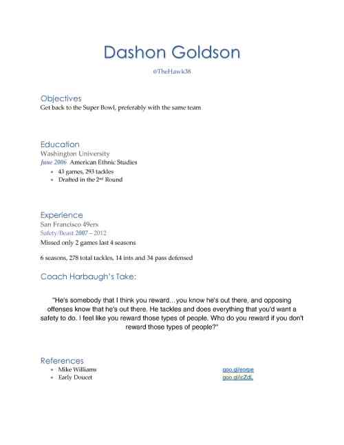 Dashon GoldsonRESUME11