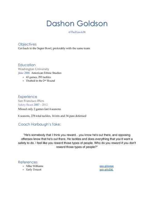Dashon GoldsonRESUME11