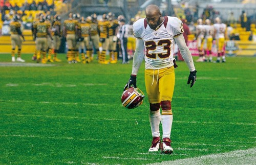 DeAngelo Hall is the latest NFL veteran to be released  (John McDonnell/The Washington Post)