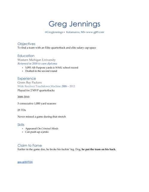 Greg JenningsRESUME1