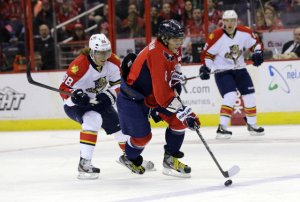 Ovechkin led the Capitals to a dominant victory over the Panthers on 3/7/13.(Alex Brandon / AP)